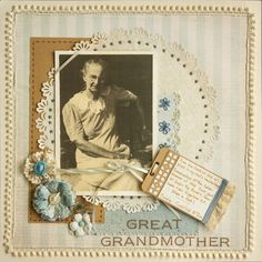 scrapbook layout ~ 1 photo heritage