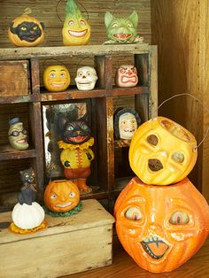 antique Halloween candy containers