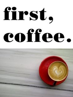 JULICA: MÉLANGE: first, coffee