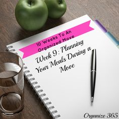 10 Weeks to an Organized Move: Week 9: Planning Your Meals During a Move | Organize 365