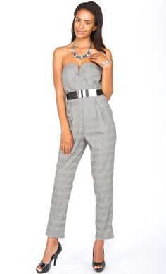 #checkered #bustier #jumpsuit #with #belt #silvermetalbelts WWW.SHOPPUBLIK.COM #publik #shoppublik #womens #fashion #clothes #style #accessories #jewelry #rings #bracelets #earrings #statement #necklaces #gold #silver #chic #cute #hot #trendy #sexy #swag #fashionista #fashionfeen #fallfashion #holidays #fashionforward #fashiontrends #outfitinspiration #streetstyle #celebstyle #ootd #whatsnew #newarrivals #armpartyswag