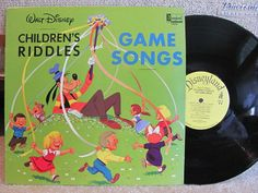 A Disneyland Record, Walt Disney production features Goofy leading the laughter and fun with riddles, limericks, jokes. - French Toast Kitty on Etsy
