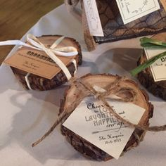 Set of 2 Wood Coasters, Rustic Wedding Favors, Bridal Party or Groomsmen Gifts
