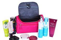 £8.99  Tumecos Travel Toiletry Dopp Kit Travel Wash Bag Shaving Bag Makeup Bag High Capacity Travel Organizer Case with Carry Handle Hook (Rose Red): Amazon.co.uk: Clothing