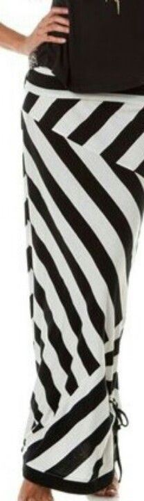 maxi skirt...this is a funky way to put the stripes together.  I like it.