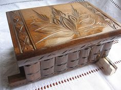 cool wooden puzzle box More