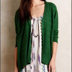 Anthropologie left of center cardigan green Never worn! Anthropologie Sweaters Cardigans