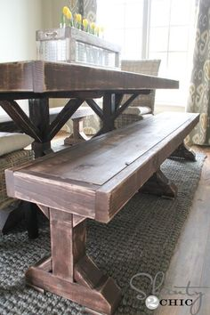 Diy Xbrace Bench  Free & Easy Plans  Bench Woodworking And Woods Extraordinary Dining Room Bench Plans 2018
