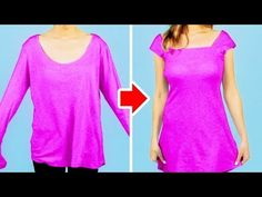 You should totally check these affordable ways to upgrade your boring clothes! I'll show you how to turn your old clothing items into designer-like clothes y. Clothing Hacks, Clothing Items, Diy Kleidung, Diy Fashion, Fashion Tips, Girl Tips, Clothes Crafts, Cut Shirts, Cool Diy Projects