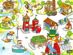 278877-richard-scarry-s-busytown-windows-screenshot-the-welcome-screen.png 640×480 pixels
