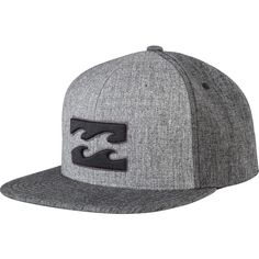 Billabong Unisex All Day 110 Snapback Hat ( 24) ❤ liked on Polyvore  featuring accessories 919afa64cd75