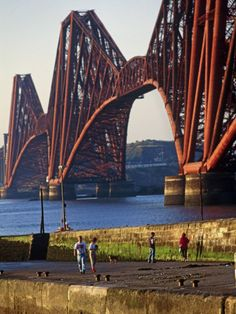 The Forth Rail Bridge on the Firth (estuary) of Forth, Edinburgh, Scotland. One of the icons of Scotland, the Forth Rail Bridge is a milestone in the development of railway civil engineering. It was the first major structure in Britain to be made of steel and its construction resulted in a continuous East Coast railway route from London to Aberdeen.