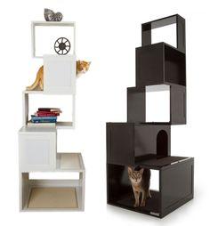 Modern Cat House cat accessories | trees, cats and cat habitat