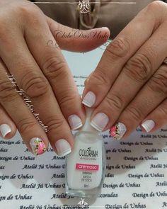 Como fazer unhas decoradas com rosas Nail Designs, Hair Beauty, Nail Art, Nails, Rose, How To Make, Montenegro, Dresses, Gold Nails