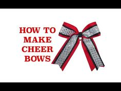 how to make softball bows step by step