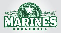 Marines Dodgeball T-Shirt Logo