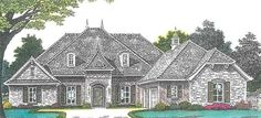 French Country House Plan with 2793 Square Feet and 4 Bedrooms from Dream Home Source | House Plan Code DHSW076881
