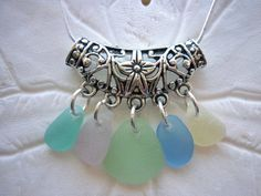 Sea Glass Necklace Pastel Beach Seaglass by TheMysticMermaid