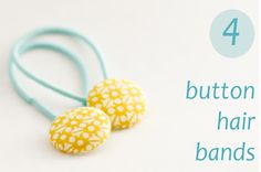 flax & twine: Day 4: Button Hair Bands - a diy hair accessory