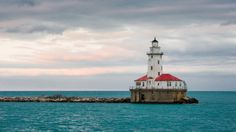Lake Michigan from the Chicago Harbor #Lighthouse