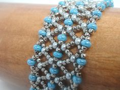 Instructions for Katie's Cuff  Beading tutorial by njdesigns1, $15.00     How Pretty