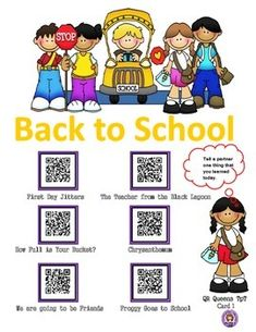 QR QUEENS BACK TO SCHOOL! So many codes for the money! Great for centers and early finishers! IPad/iPod/tablet activities! Students love scanning and learning with QR codes! What a great product that lets students listen to some of their favorite back to school books, learn about making friends, following the rules, and much more! K-2 $ QR QUEENS