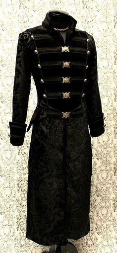 SHRINE DOMINION TAPESTRY GOTHIC VAMPIRE GOTH UNDERWORLD PIRAT ARMY COAT JACKET in Clothing, Shoes & Accessories | eBay
