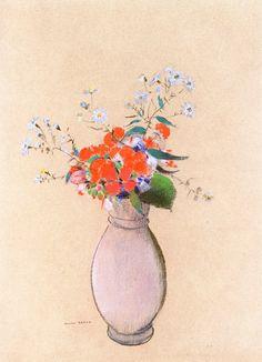 The Athenaeum - Vase of Flowers (Odilon Redon - circa No dates listed)