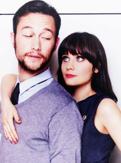 Joseph Gordon-Levitt and Zooey Deschanel. Another one of those occasions when the world just might explode out of pure awesome.