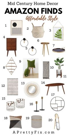 home accessories Living Room mid century - Sitting Room Plans (+ My Fave Mid Century Decor Finds) - A Pretty Fix Décoration Mid Century, Mid Century House, Mid Century Bedroom, Mid Century Design, Mid Century Modern Living Room, Mid Century Modern Decor, Mid Century Modern Wallpaper, Mid Century Modern Kitchen, Vintage Modern