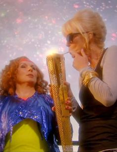 Apparently there's a new Ab Fab Olympics episode.  I laughed so hard at this picture.  It's so wrong, it's right.