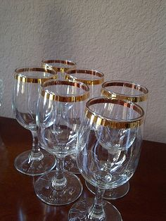 REDUCED Vintage Cronzini Fine Crystal Wine by maggiecastillo, $70.00