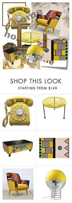 """""""roxariaone  02 home template-mdm yellow"""" by roxariaone ❤ liked on Polyvore featuring interior, interiors, interior design, home, home decor, interior decorating, Innit, VerPan, Post-It and modern"""