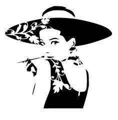"""6/6 """" vintage audrey hepburn stencil"""
