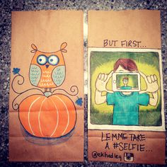 Talented Mom Draws Amazing Lunch Bag Art For Her Kids Everyday