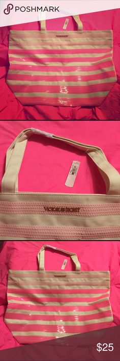 Victoria's Secret sequined large tote bag, NWT Brand new VS tote has zipper pocket on inside, canvas with sequins on front of bag, can be used for beach or for everyday use, very nice, extremely cute.💖🐱friendly home, items stored until sale 🚬💖 Victoria's Secret Bags Totes
