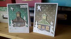 Weihnachtskarte mit stanzern