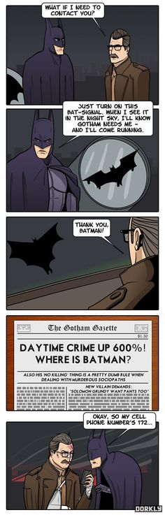 Check out: Thanks Batman. One of our funny daily memes selection. We add new funny memes everyday! Batman Meme, I Am Batman, Superhero Memes, Nightwing, Batgirl, Dc Memes, Funny Memes, Movie Memes, Funny Pins