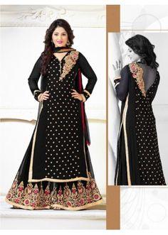 Eid Special Black Georgette Palazzo Suit - Heena78