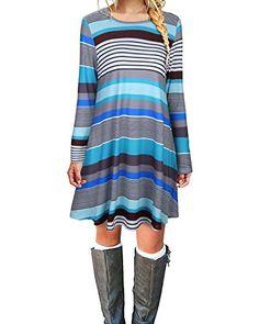 Ineffable Women's Round Neck Pockets Color Stripe Long Sl... https://www.amazon.com/dp/B074V4ZSGB/ref=cm_sw_r_pi_dp_x_o7GeAb63WHS4B