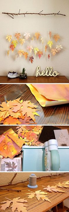 Check out the tutorial how to make a DIY faux fall leaf garland from paper @istandarddesign