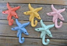 etsy towel hooks coral - Google Search