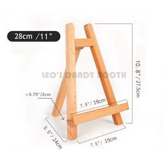 This item is unavailable Diy Easel, Wooden Easel, Wooden Phone Holder, Craft Stick Crafts, Diy Crafts, Diy Painting, Painting Tools, Artist Painting, Table Easel