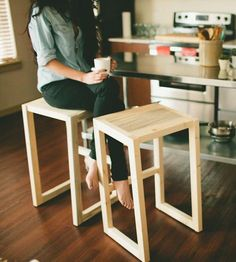 Cameron Pine Bar Stool by The Azure Furniture Co. on Scoutmob …