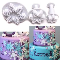 Snowflake Fondant ABS cake mold Chocolate Fondant Cookie Muffin ice mould Flexible moulds cupcake bake tools