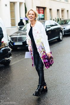 The coat of flowers: in Paris - Fashionising.com