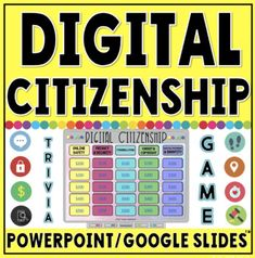 Digital Citizenship Resources for the Elementary Classroom Digital Word, Digital Citizenship, Citizenship Education, Teaching Technology, Technology Lessons, Book Creator, Math Manipulatives, Writing Lessons, Library Lessons