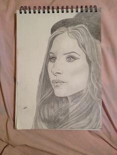 My drawing of Barbra Streisand-2014