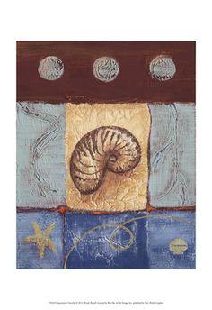 Aquamarine Nautilus Art Print at AllPosters.com