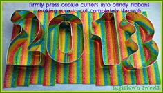 Sugartown Sweets: Happy New Year's Eve Candy Covered Fondant Cake Toppers!